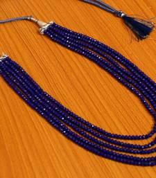 Blue Colour 5 Line Necklace