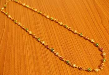 Multicolour Beads Filigree Necklace