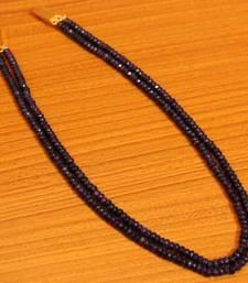 Amethyst Purple Colour Double Line Semi Precious Necklace