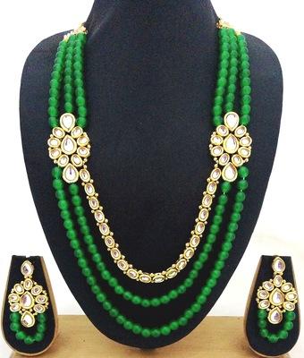 Green Pearl Kundan Designer jewellery Set