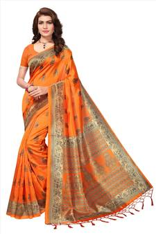 357ef13b5ecc16 Orange Color Sarees - Buy Orange Saree Online @ Best Prices