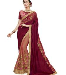 742dd2b4fbdba3 76% OFF Buy Pink embroidered art silk saree with blouse designer-embroidered-saree  online