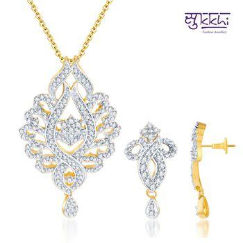 Sukkhi Pleasing Gold and Rodium plated C