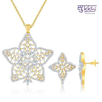 Sukkhi Sublime Gold and Rodium plated CZ
