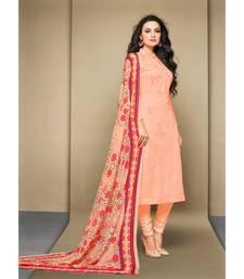 Light-pink digital print cambric salwar