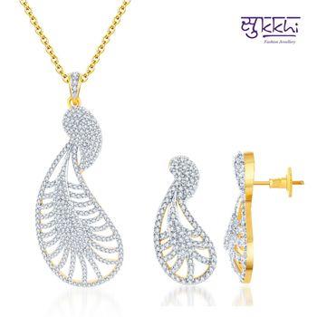 Sukkhi Pretty Gold and Rodium plated CZ