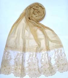 Buy Yellow designer cotton women's stole hijab hijab online