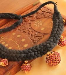 Beautiful Handmade Kemp Balls Designer Black Necklace