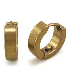 Buy Gold plain hoops men-stud online