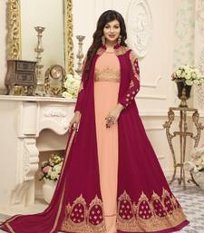 Light-orange work georgette salwar