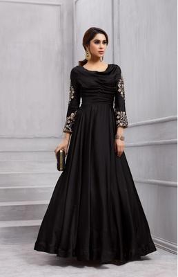 Black work silk salwar with dupatta