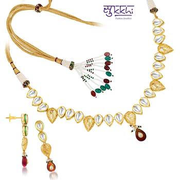 Sukkhi Kundan Gold plated Fine Design Ne