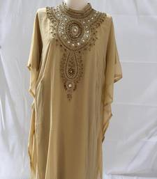 Cream georgette zari stone work islamic style farasha