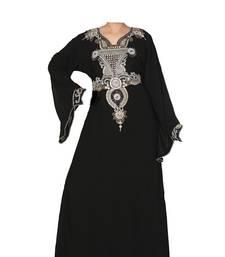 Black georgette zari stone work islamic style farasha