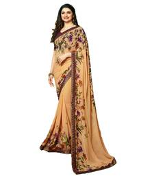 Buy Beige printed georgette saree with blouse women-ethnic-wear online