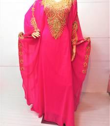 Pink georgette zari and stone work islamic farasha