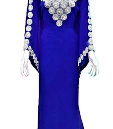 Blue georgette zari and stone work islamic kaftan