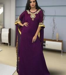 Violet brasso and creap embroidered islamic kaftans