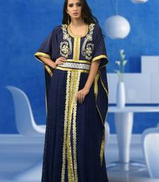 Blue Brasso And Creap Embroidered Islamic Kaftans