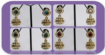 Bumper Offer Of 4 Set Small Jhumka Earring
