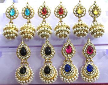 Combo Offer of Multi Colour Jhumka Earrings