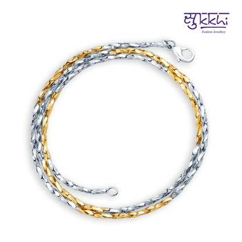 Sukkhi two tone plated chain