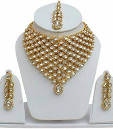 Buy Latest Desiger Kundan Choker Long Bridal 4pc Full Jewelry Set necklace-set online