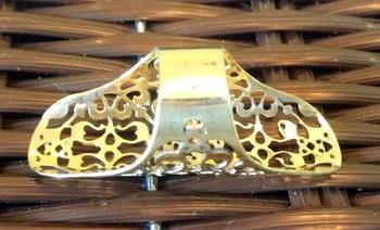 ETHNIC GOLDEN LONG BRASS RING