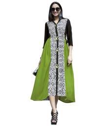 Buy Green printed rayon kurti indowestern online