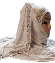 White diamond stone work hosiery cotton islamic hijab scarf