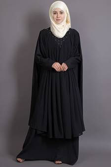 08518ba44c3d Black georgette embroidered casual islamic abaya · Shop Now