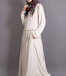 Ivory Heather Moss Plain Casual Islamic Abaya