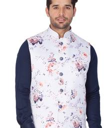 Multicolor Cotton Blend Nehru Jacket