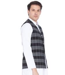 Black Cotton Modi Nehru Jacket