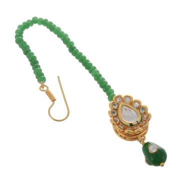 Green Emerald Stylish Maang Tikka