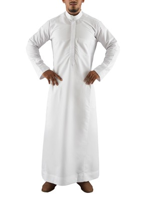 White cotton al lulu thobe