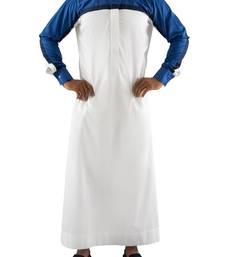White cotton white cayman thobe