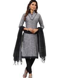 Buy Black digital print cotton salwar with dupatta dress-material online