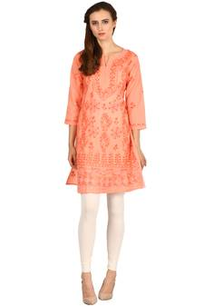 e1925447b6 Chikankari Kurtis Online Shopping | Lucknow Chikan Embroidery Suits