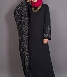 Buy black poly_crepe embroidered islamic abaya  Reaymade Abaya online