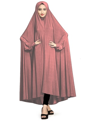 Violet color plain women's chaderi abaya burkha