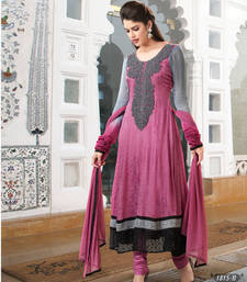 Buy Baby Pink  Georgette Designer Readymade anarkali dress-material online