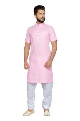 Pink Cotton Kurta Pajama