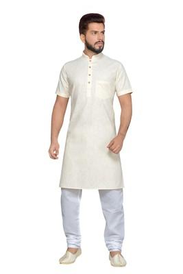 Cream Cotton Kurta Pajama