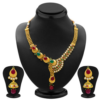 Fine Gold Plated Necklace Set for Women