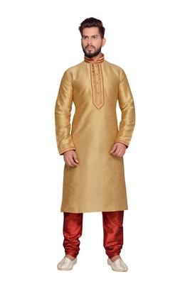 Gold  Doby Dupion Kurta Pajama