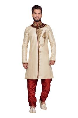 Gold Brocket Indo Western Dresses