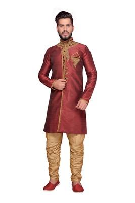 Maroon Brocket Indo Western Dresses