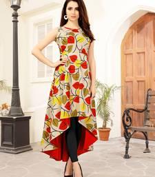 Buy Multicolor printed rayon kurti kurtas-and-kurtis online