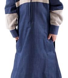 Buy Blue cotton al marjaan kids thobe boys-islamic-galabiyya online